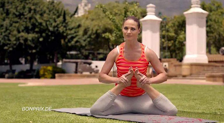 Onmogelijke yoga in reclame